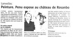 Le Télégramme 15 08 2014 Penu Rosanbo - 2