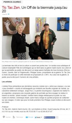 Le Télégramme Biennale OFF Tic Tac Zen 2015