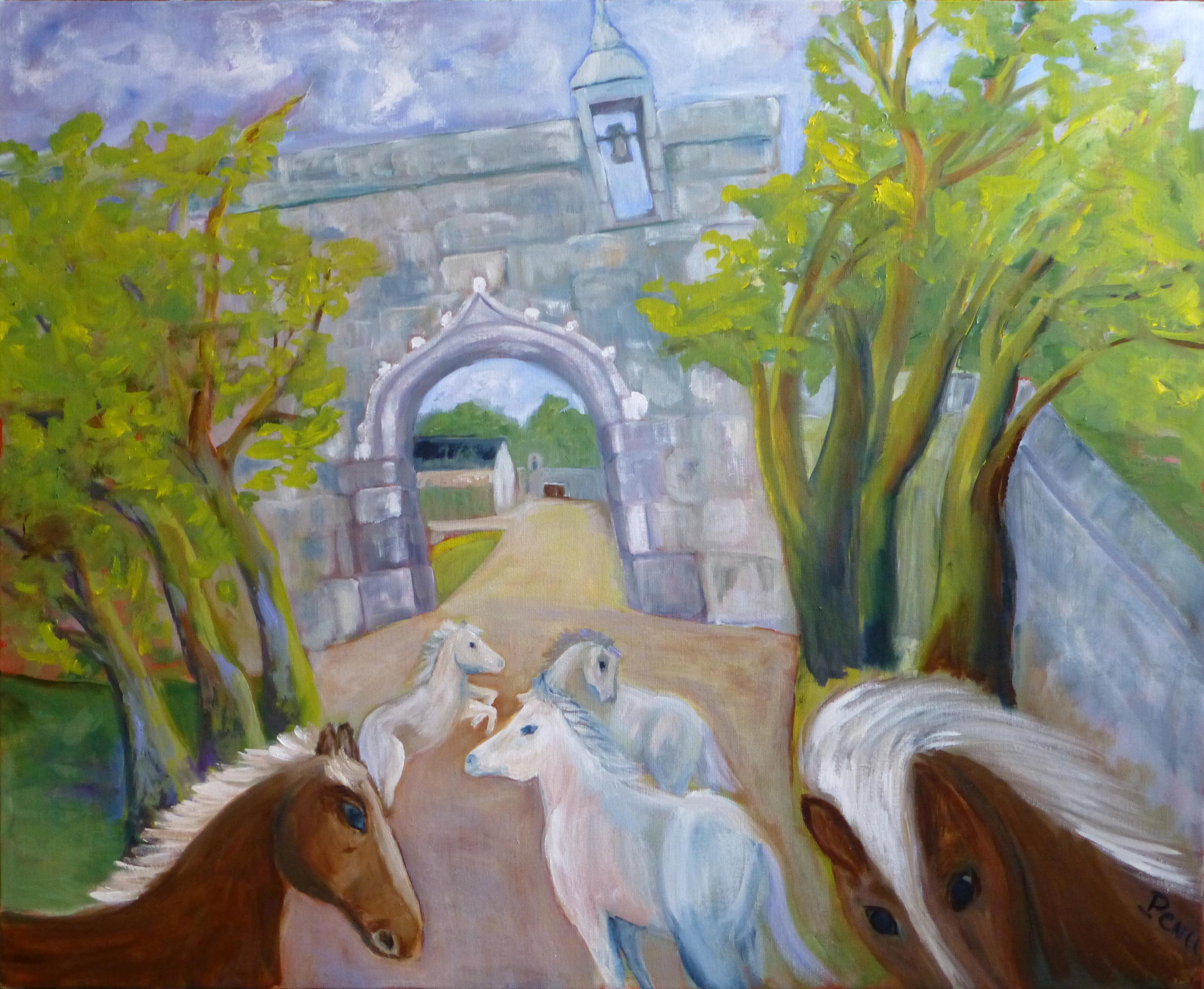 Rosanbo, l'arrivée des chevaux