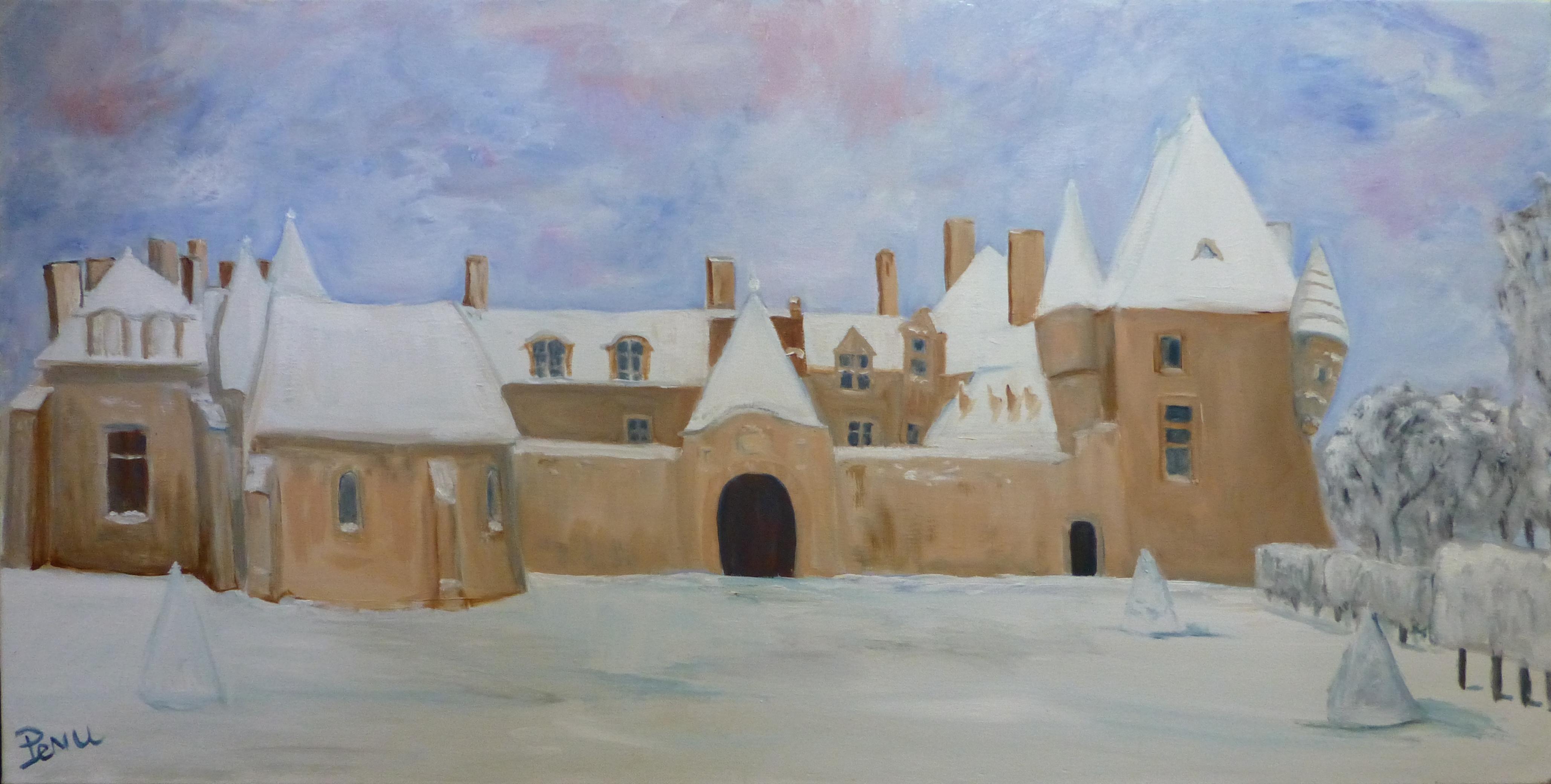Rosanbo, chateau et parc sous la neige