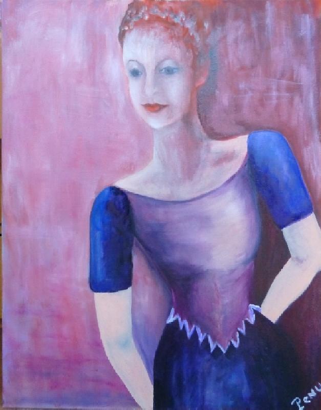 Femme inclinée