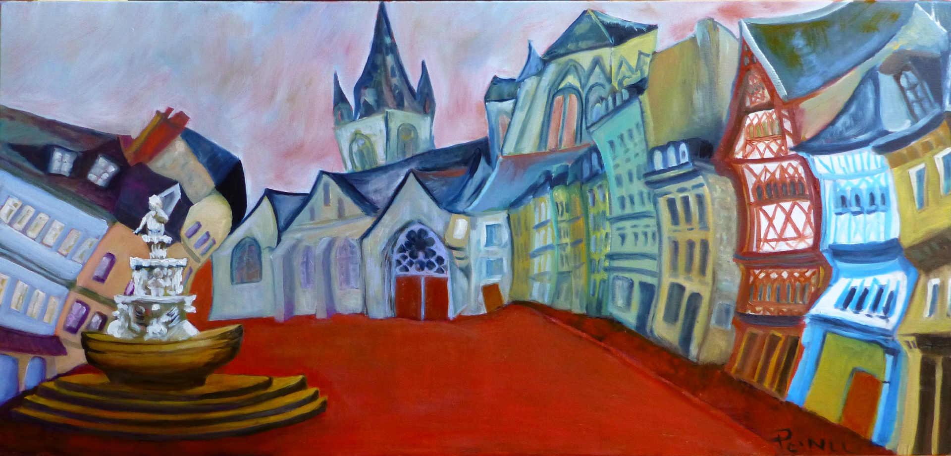 La place rouge à Guingamp