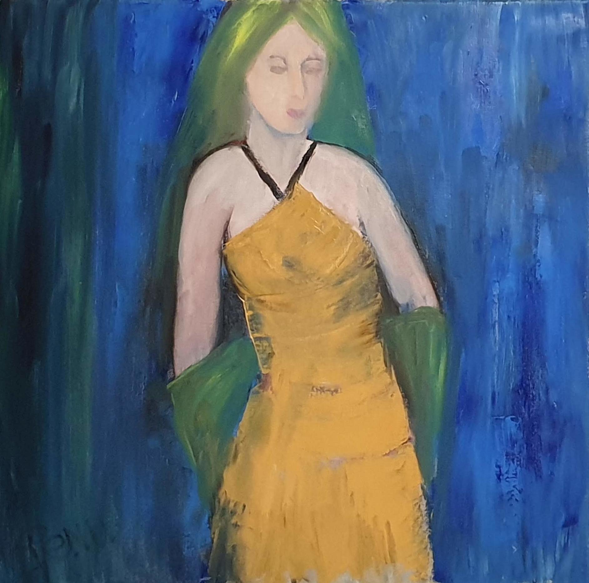 La dame à l'étole verte